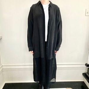 Alexander Wang long 100% silk blouse. 🖤